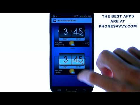 Video of 3D Flip Clock & World Weather