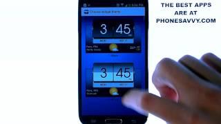 3D Flip Clock & World Weather YouTube video