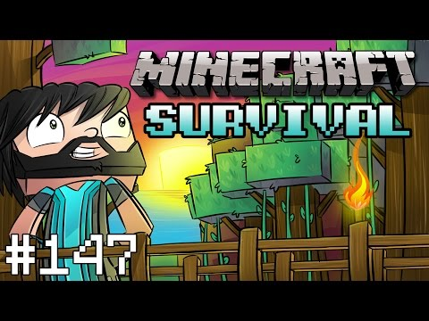 Minecraft : Survival – Part 147 – Rail Station Complete!