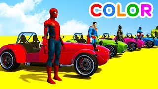 Learn color big bus and cars with Superheroes cartoon animationLEARN COLORS for kids w TRUCK Carshttps://youtu.be/4nBM2Lhw1WQLearn Colors w Magic Balls for Kids - Foot Paintinghttps://youtu.be/oUrXRbej1KAFun Learn Colors Helicopter & Sport Cars w Bus Spidermanhttps://youtu.be/MbzZGzIJg1ALEARN COLORS for Kids w Trains - Cars Superheroes & Soccer Ballshttps://youtu.be/UPSkhY_98bUCOLORS for Children with BUS and Spidermanhttps://youtu.be/w-M-sACpdM4