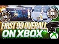 FIRST 99 OVERALL REACTION! BADGES TURNED HOF! FIRST XBOX LEGEND REACTION! NBA 2K18 99 OVERALL!