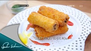 Masak On Sarah with Chef Sandra – Deep Fried Sosis Roll and Peach Clafouti