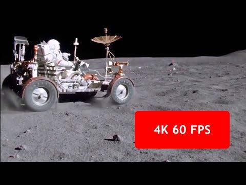 "[4k, 60 fps] Apollo 16 Lunar Rover ""Grand Prix"" (1972 April 21, Moon)"