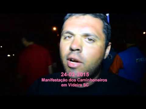 Manifestações dos Caminhoneiros em Videira, Organização fala sobre o assunto!!!