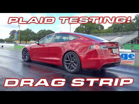 2.01 to 60 MPH * PLAID DRAG STRIP TESTING * Tesla Model S Plaid full performance tests 1/4 Mile