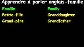 Apprendreà Parler Anglais-famille