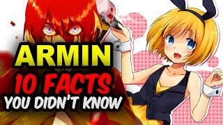 10 Attack on Titan Facts You didn't know focused on 10 Armin Arlert Facts You Didn't Know!Find out 10 things about Armin from Shingeki no Kyojin!Attack on titan season 2 finale ended with a darker Armin, what development will come for Armin Attack on Titan Season 3?Subscribe!! New Anime Facts video Weekly & Anime News 😄►► http://bit.ly/AnimeFansUniteWatch  10 Mikasa Ackerman Facts You Didn't Know►► https://www.youtube.com/watch?v=xuCKL5JDrG8Watch  10 Levi Ackerman Facts You Didn't Know►► https://www.youtube.com/watch?v=ASUYrrCEuTcArmin Arlert is one of the main protagonist in Attack on Titan. Armin is part of the Survey Corp and later the Levi Squad. Together with Eren and Mikasa they battle the threats from the Titans including the Armored Titan, Female Titan, Colossal Titan and the new Beast Titan!But Attack on Titan Season 3 has been confirmed! So look forward to more of Armin's development in in Attack on Titan Season 3 in 2018. 😄Attack on Titan is a series created by Hajime Isayama. Attack on Titan original came out in 2009 in Japan titled Shingeki no Kyojin.Tetsuro Araki later helped to flesh out Shingeki no Kyojin in the Attack on Titan anime adaptation of the series.  Attack on Titan quickly became a mega hit worldwide.Attack on Titan focuses on the story of Armin Arlert, Mikasa Ackerman, and Eren Jaegar battling against the mighty Titans of their world.The story begins in 845 after the fall of Wall Maria and Titans started eating humans within the Shiganshina District. This pushed humanity back behind the second Wall, Wall Rose. Only Wall Rose and Wall Sina were left to stop the Titans.Foxen talks about 10 facts you may not known about Attack on Titan.Own the complete Attack on Titan Season One Today! http://amzn.to/2q7l9KHFollow Foxen Anime on Facebook & Twitter!►► http://bit.ly/FoxenFaceBook►► https://twitter.com/FoxenAnimeEnglish Subtitles are added by me to all Anime videos! Enjoy 😄________________________________________________________________Watch mo