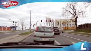 Rajder - Toruń trasa egzaminacyjna - skrzyżowanie ulic Wielki Rów i grudziądzkiej - Kurs jazdy 2014