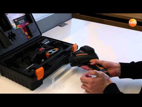 testo 875i - Step 01 - Inserting the battery