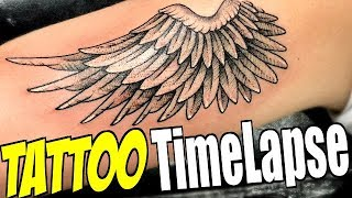 Video TATTOO TimeLapse - Angel Wing Dotwork (by Romeo Lacoste ft. Tanner Braungardt) MP3, 3GP, MP4, WEBM, AVI, FLV Juni 2018