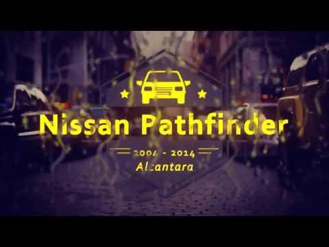 """Чехлы на Nissan Pathfinder (R51), серии """"Alcantara"""" - серая строчка"""
