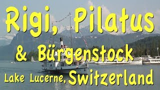 Please subscribe:  http://bit.ly/2pmdyeuSwitzerland playlist  http://bit.ly/2qsUismOne of the great activities that you can enjoy while in Lucerne, Switzerland is cruise on Lake Lucerne and visit Mt. Rigi. You take the boat over to Weggis and go up the mountain to Rigi by cablecar.  At the top you can walk around and enjoy the views,  then take a rack railway back down to Vitznau, finally catching the next boat for a return journey back to Lucerne.The other great mountain to visit near Lucerne is Pilatus, easily reached by boat and rail, and an enjoyable option to consider on your way to Pilatus is a stop at Bürgenstock. It's a small mountain plateau with a dramatic cliff-hugging walking trail. Most of the boats to Pilatus stop here en-route so hop off at the Bürgenstock dock, ride the funky old-fashioned funicular to the top and start hiking, following the signs to the cliff walk. This is a level path with sweeping views across the lake and at the rock face of the mountain, looking straight down about 1000 feet. You can have snacks or a meal at the restaurant other attractions on the plateau, which include more hiking trails through the forest, several newly-built deluxe hotels and a nine-hole golf course.From Bürgenstock continue by boat and rack rail ride to the top of Mount Pilatus. You take the boat to Alpnachstad, one hour and 10 minutes, and then you ride up the world's steepest cogwheel railway to the top of Pilatus for sweeping view of the lake.They do have a lovely rustic restaurant at the top and there's even a hotel up there that you could spend the night at. You can return back down the same way on the rack railway or for a slightly faster alternative with a totally different routing and some variety, take the cable car down the backside of the mountain to Lucerne.http://tourvideos.com/