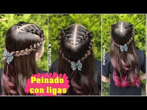 Hairstyles for short hair -  Peinado fácil, elegante y rápido para niñas / Peinados fáciles y rápidos WILVITA