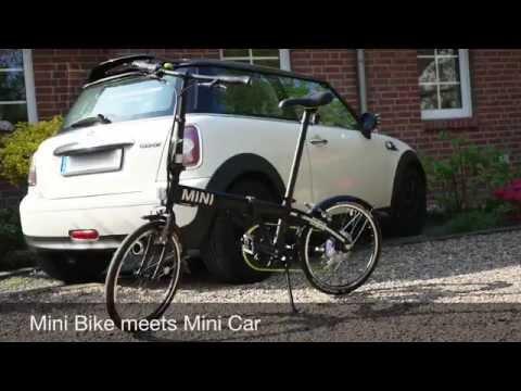 Mini folding bike bmw фотография