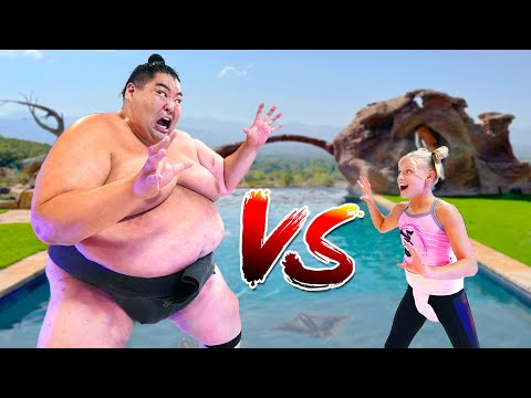We challenged a 600 Pound Sumo! Ninjas vs Sumo!