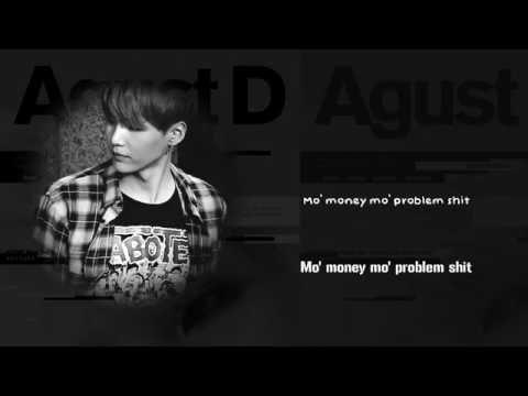 BTS Suga (AGUST D) - Tony Montana FT. Yankie [Lyrics Han|Rom|Eng]