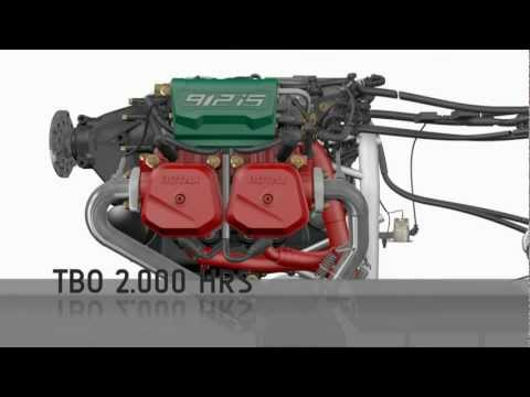 Rotax 912 iS engine 3D animation