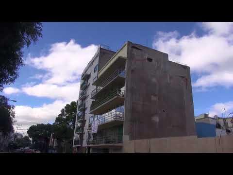 Edificios en la Colonia del Valle dañados por sismo (видео)