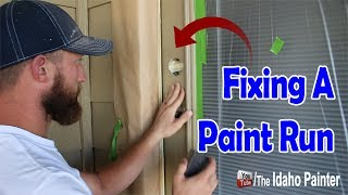 Fixing A Paint Run