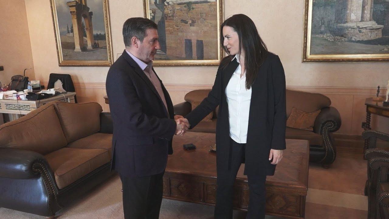 Συνάντηση του δημάρχου Αθηναίων με την Ολγα Κεφαλογιάννη
