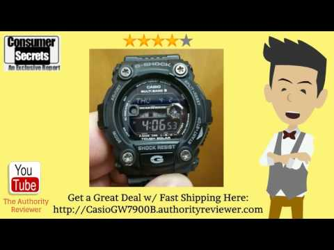 [Review & SALE] Casio Men's GW7900B-1 G-Shock Black Solar Sport Watch:  Visit -- http://CasioGW7900B.authorityreviewer.com -- Casio Men's GW7900B-1 G-Shock Black Solar Sport Watch Review. See lowest price w/ fast shipping. Watch this review of the Casio Men's GW7900B-1 Watch...-------Features Of The Casio GW7900B-1 Sport WatchIf you are looking for an advanced sports watch that runs on solar power and has tons of features, you can't go wrong with by searching for a quality Casio Men's GW7900B-1 Review site. This watch can do everything from tell the time to give you a tide and moon graph. Read on to learn about some of the features of this amazing watch.The watch has a host of features that make it worth owning. It has atomic time keeping and gives you world time in over 48 different cities. The EL backlight makes sure you can read your watch at night. You will find a stopwatch that allows you to keep track of time during running or swimming. There is even an alarm with a snooze feature. You will find a tide/moon graph that will help you on fishing and boating trips and you can see the time and other stats in 31 different time zones. The watch also features calendars that go by date, day, or month.The resin case is 50mm and has a strong mineral dial window according to popular Casio Men's GW7900B-1 G-Shock Black Solar Sport Watch Review pages. The quartz movement features a digital display and the watch is water resistant so you do do anything water related except scuba dive in it. This watch works great for boating and other marine activities. Don't take it swimming however, because it isn't totally waterproof.When you need an attractive multi-function watch that has a host of advanced features, is solar and also looks good on your wrist, then the GW7900B-1 G-Shock Black Solar Sport Watch is a great choice. This watch can help you in the gym, during a run, and on the boat. With an attractive price point, this watch has everything you need to tell the time and enjoy