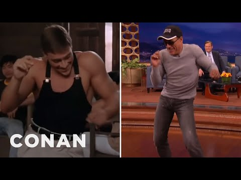 "Jean-Claude Van Damme Recreates His ""Kickboxer"" Dance Scene - CONAN"