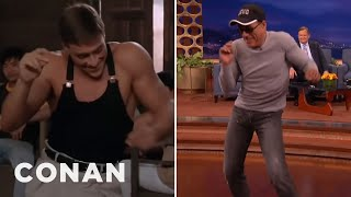 "Video Jean-Claude Van Damme Recreates His ""Kickboxer"" Dance Scene  - CONAN on TBS MP3, 3GP, MP4, WEBM, AVI, FLV Maret 2018"