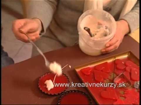 Svíčka jako valentýnský dortík