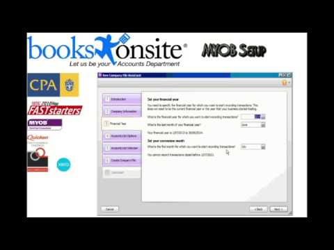 MYOB AccountRight Bookkeeping- Company File Setup