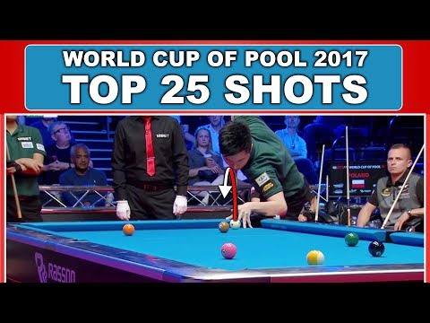 TOP 25 BEST SHOTS World Cup Of Pool 2017 (9-ball Pool)