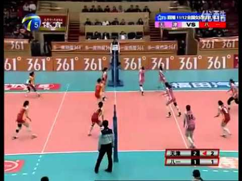 Asian Level - Epic Volleyball Rally!