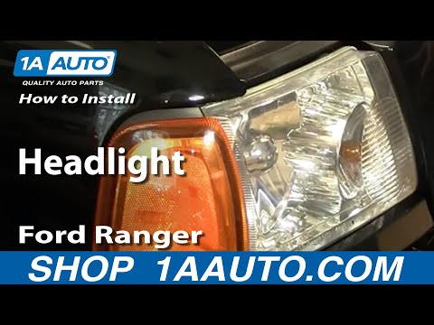 How To Install Replace Headlight Ford Ranger 01-10 1AAuto.com