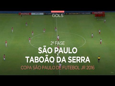 Gols - São Paulo 2 x 2 Taboão da Serra-SP - Copa São Paulo - 10/01/2016