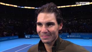 Tennis Highlights, Video - Rafael Nadal on-court post match interview in London (def. Berdych 6-4 1-6 6-3)
