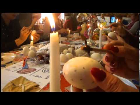 Ukrainian deputies painted Easter eggs