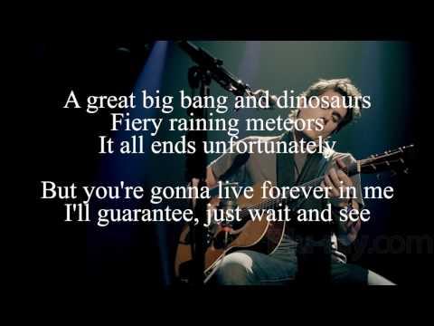John Mayer - You're Gonna Live Forever in Me Lyrics