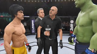 BRUCE LEE VS HULK 2K18 UNBELIEVABLE WAR!!! | EA Sports UFC 3