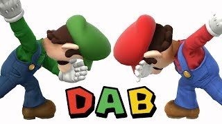 If Luigi's dab wasn't enough, here's everyone doing it in Sm4sh! (taunt mod)
