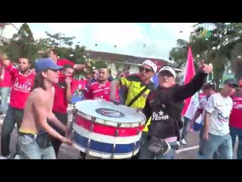 Hinchada del Medellín en Marinilla - Rexixtenxia Norte - Independiente Medellín