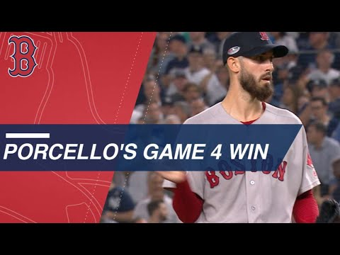 Video: Porcello shuts down Yankees in ALDS clinching victory