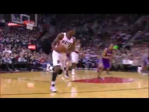 Marcus Camby's monster block on Sebastian Telfair