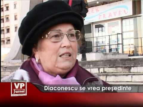 Diaconescu se vrea preşedinte