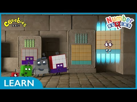 We're Going On A Square Hunt | Numberblocks