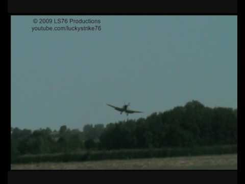 Spitfire Landing Battle of Britain Day 2009