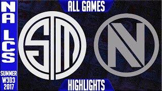 TSM vs NV ALL GAMES Highlights  NA LCS Week 3 Summer 2017  TSM vs Team Envy NALCS teams: Dignitas, Fly Quest, TSM,...