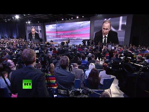 Ежегодная пресс-конференция Владимира Путина (видео)