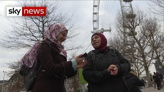 Migrant talks to Sky News about why he came to UK