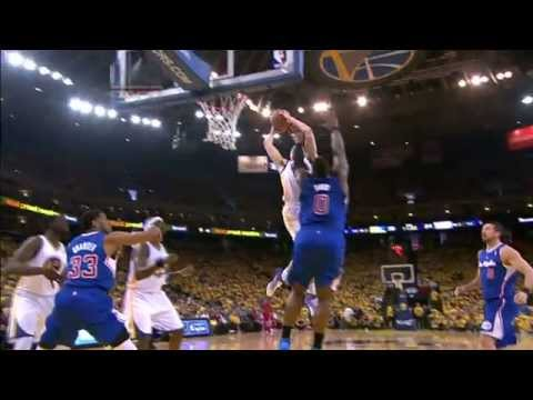 Video: Klay Thompson Climbs the Ladder for the Jam on Big Baby!