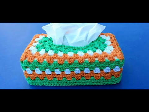 Tissue Box Cover - Crochet
