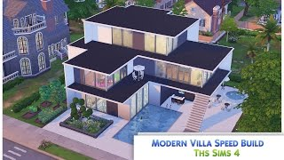 The Sims 4 Speed Build 39 Modern Villa 39 VidInfo
